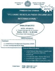 kementerian luar negeri ri (peluang bekerja pada organisasi internasional) 30 april 2013
